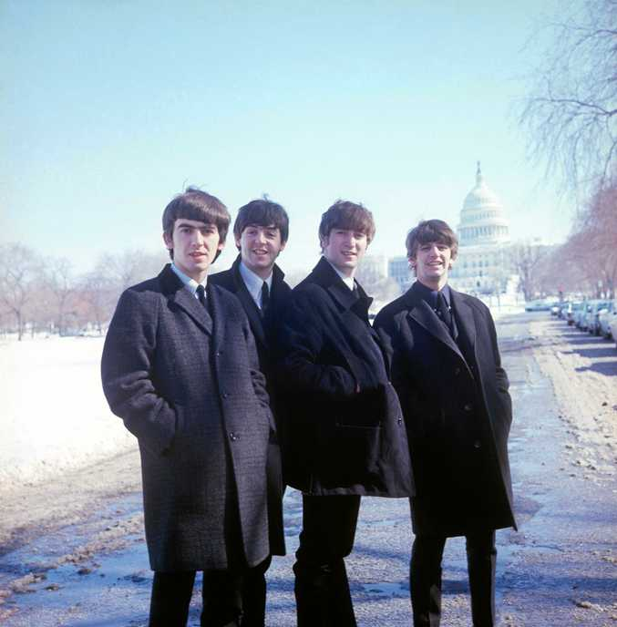 The Beatles pictured in Washington DC in a scene from The Beatles: Eight Days a Week - The Touring Years.