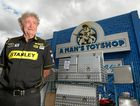 A Man's Toyshop owner, Ross Mylrea outside the Gladstone Road store.
