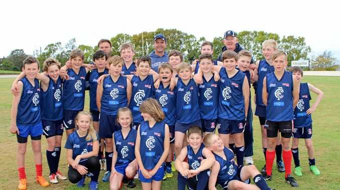 STRONG: The Coolaroo/Warwick team that will contest the AFL Darling Downs under 12 grand final.