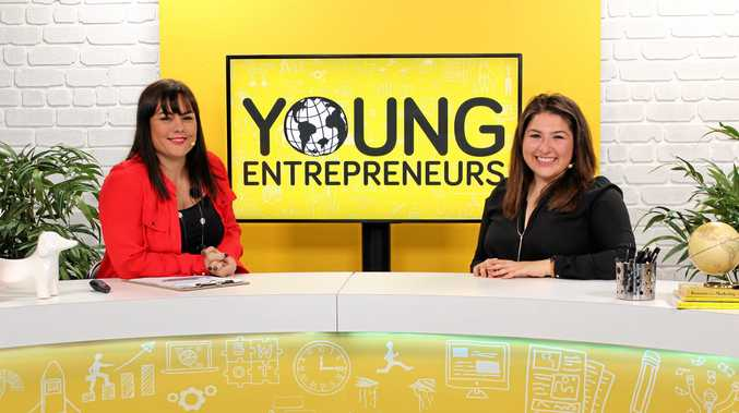 YOUNG LEGENDS: Host Yvette Adams and co-founder of Kayter Co, 25-year-old Samantha Khater in the making of Young Entrepreneurs.