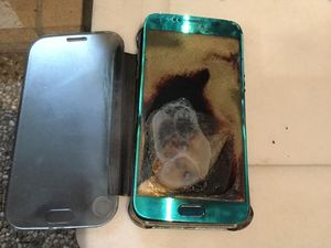 Coast woman's Samsung phone catches on fire