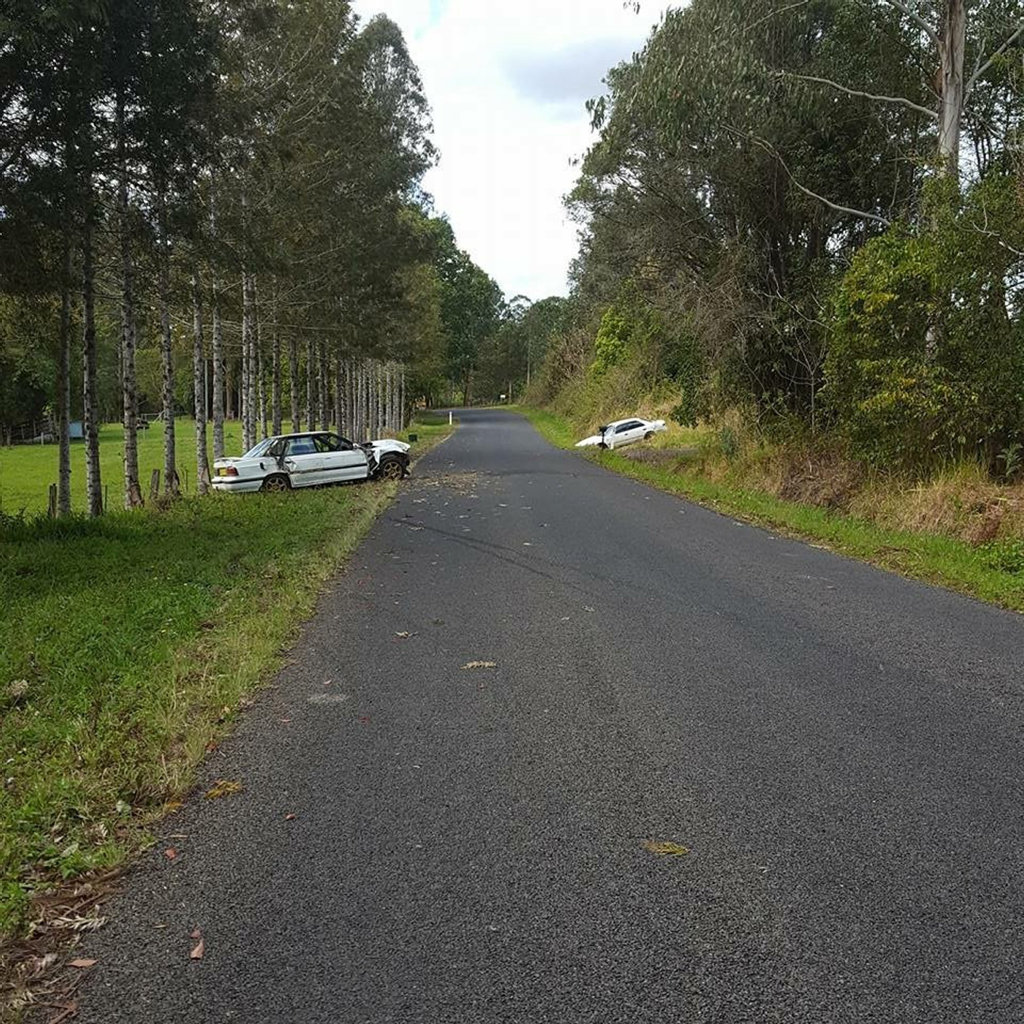 Two cars written off in the space of four days on Stony Chute Road.