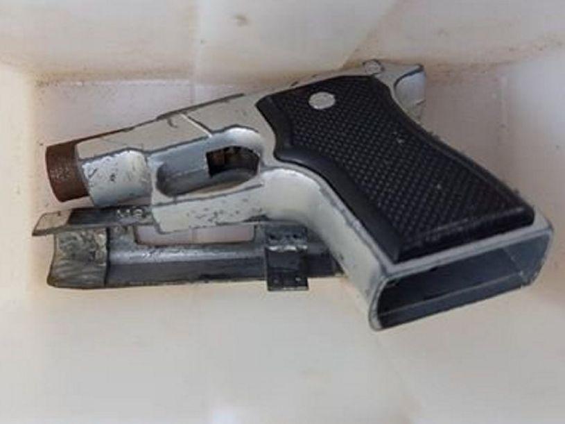 Homemade gun seized during a Lismore search warrant.
