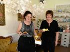 The Garden Tea House owner Nancy Anderson and cook Debbie Norbury are happy with the success the business has achieved in its first year of business.