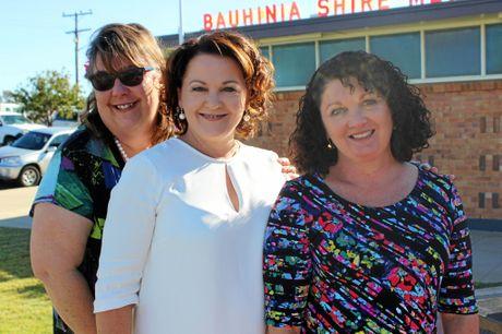 SPRINGSURE LADIES CANCER LUNCHEON: Bev Donohoe, Janine Noffke and Judy Nixon.