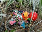 Balloons are often discarded on beaches