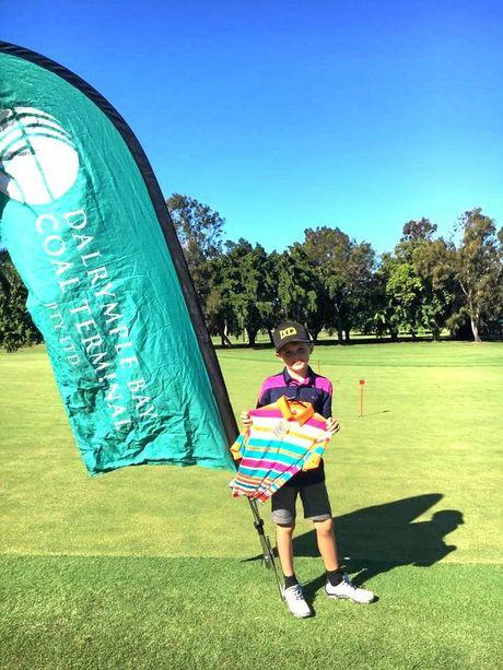 Nine hole Champion Toby Reid.