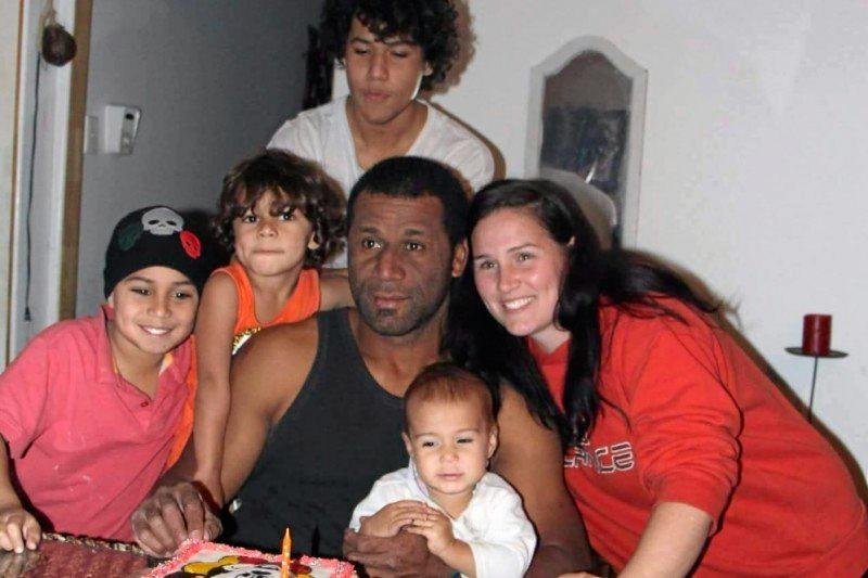 FIGHTER: Niko with his wife Carolyn and children Aiseah (16), Noah (8), Jonah (4) and baby Laisa.