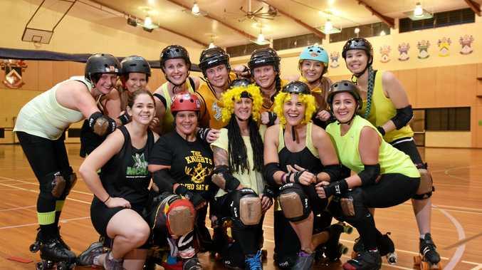 TEAM SPIRIT: Bundy Rum City Roller Derby Dolls are raising funds for R U OK? Day.