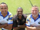 TEAM WORK: The Waves coaches Antonio Kaufusi and Ashley Simpson (left) with IWC director Stirling Eggmolesse (centre).