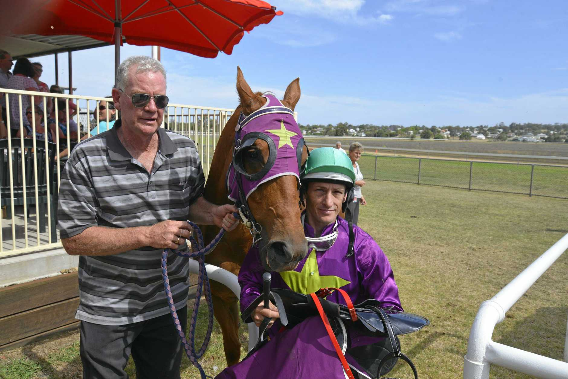 WINNING COMBINATION: Trainer Kelvin Hickmott and jockey Terry Treichel will combine again for the $65,000 Slipway Hotel Ballina Cup today.