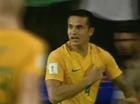 Socceroo scores winning goal.