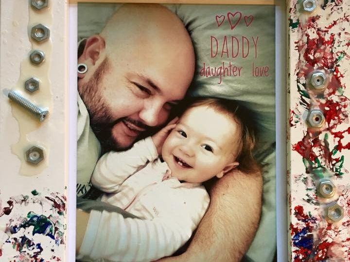 Dan Mulheron with her daughter, Emme.