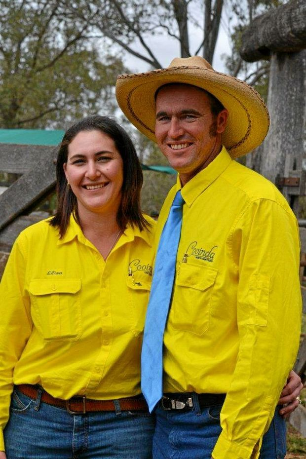 Chris and Elisa Fox from Cooinda Santa Gertrudis stud near Proston.