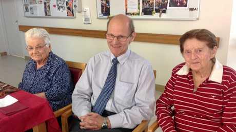 Enjoying the celebrations are (from left) Marie Kickham, Dr Martii Kahelin, and Eileen Vine