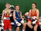 GOLDEN GLOVES: Gaige Russell, Joseph Bowen and Brittany Roll with their medals.