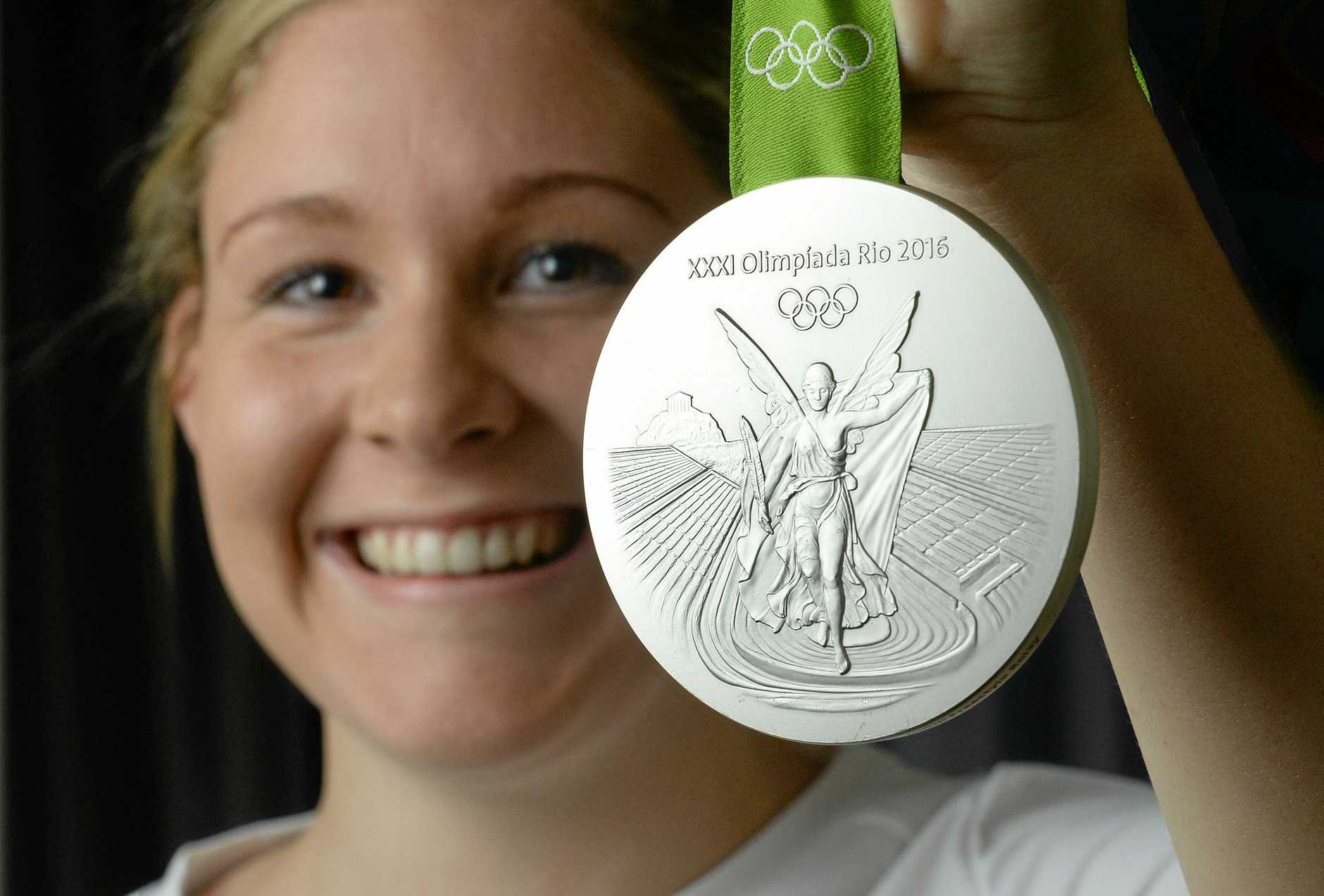The stunning silver medal Ipswich swimmer Leah Neale won in Rio.