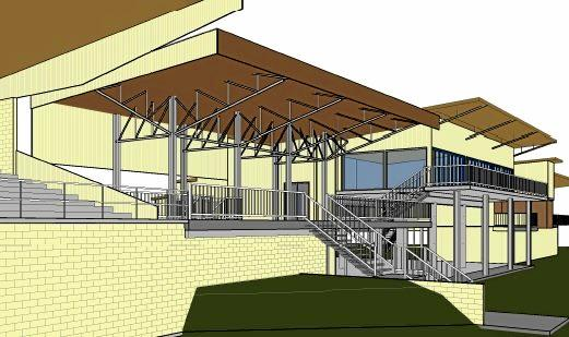 Plans for the upgrade to Bassett Park extension to the members' bar, deck and grandstand.