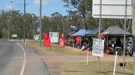 German Creek miners have been on strike for nearly three weeks.