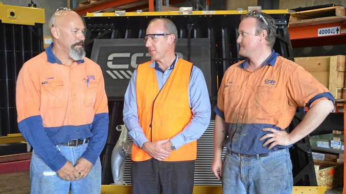 COR Cooling storeman Laurie Holmes, state manager Scott Sach and raditor fitter Ben Neary in their Paget workshop.