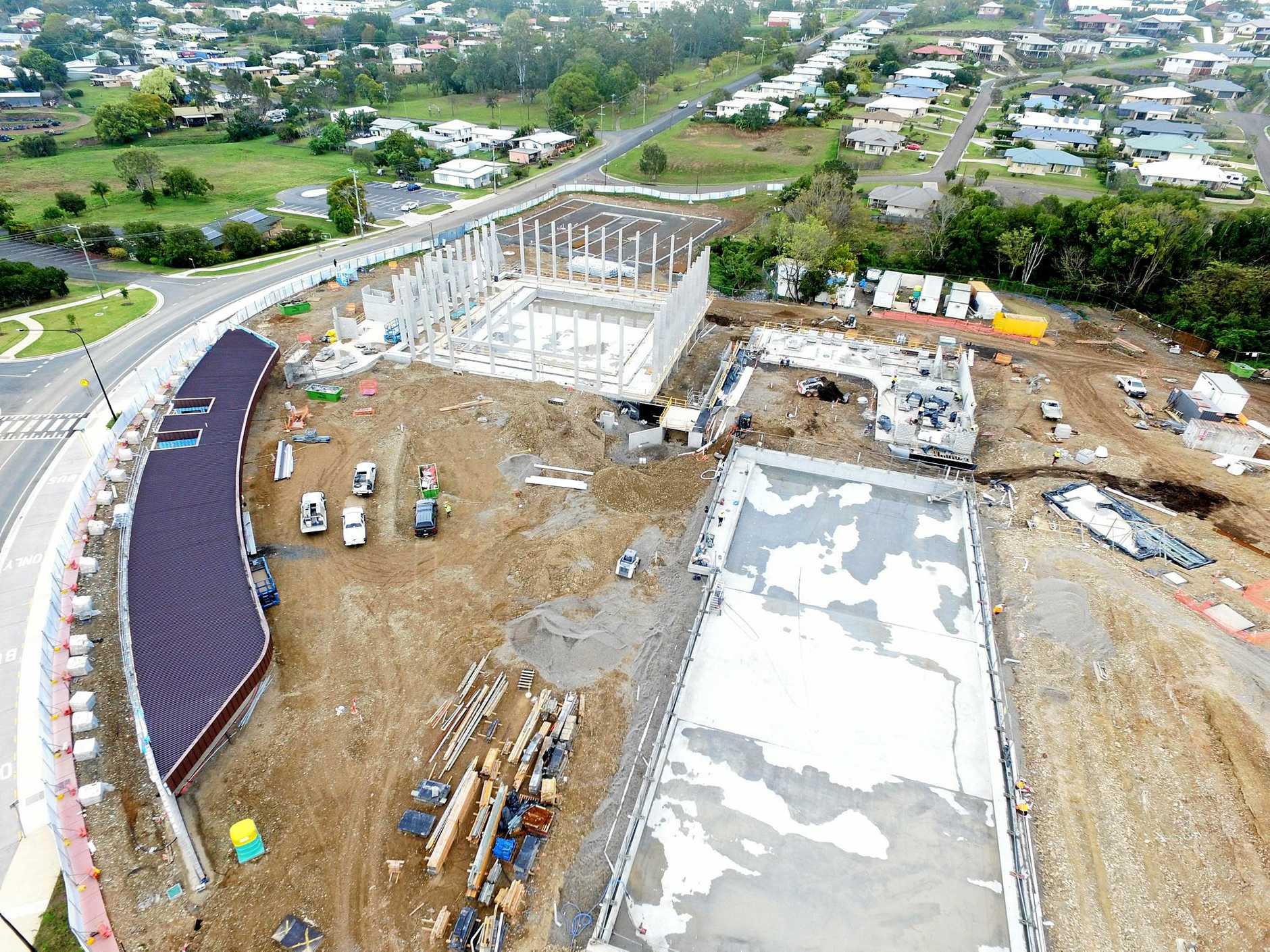 Aquatic centre under construction in Gympie.