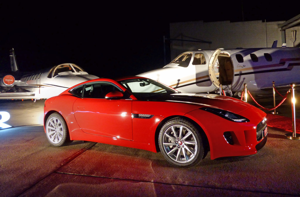 Jaguar F-Type at the Pacific Jaguar launch of the Jaguar F-Pace SUV at Sunshine Coast Airport. Photo: Contributed