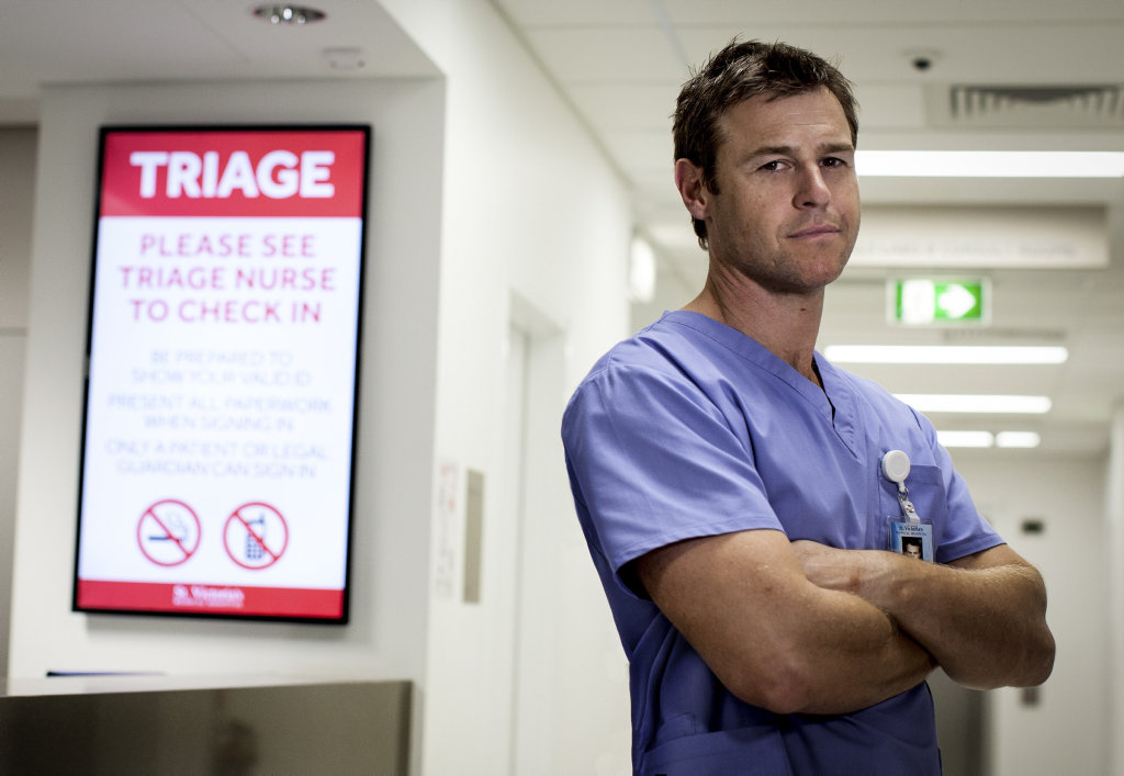 Rodger Corser stars in the TV series Doctor Doctor.
