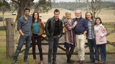 The Knight family in a scene from the TV series Doctor Doctor.