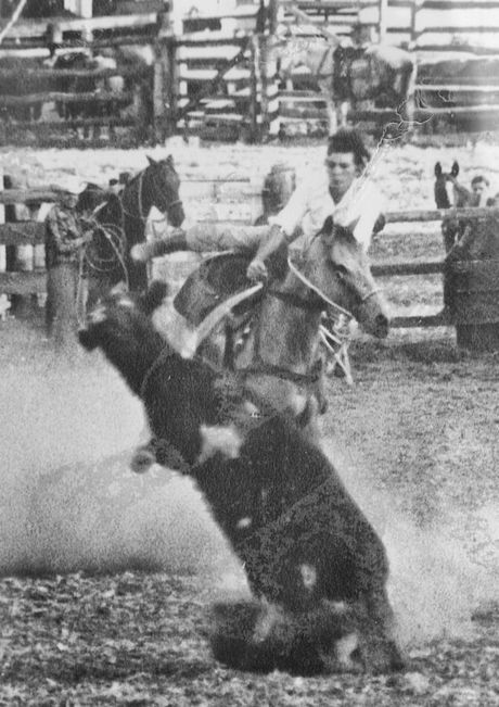 Ken Consiglio in his rodeo days.