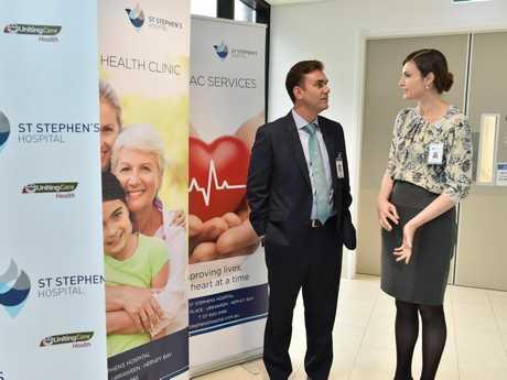 St. Stephens Hospital mental health program - Berquin Human (snr. psychologist & clinical lead at Cooinda Mental Health Service) with Amanda Cruwys (g/mgr. & dirctor of nursing at St. Stephens).