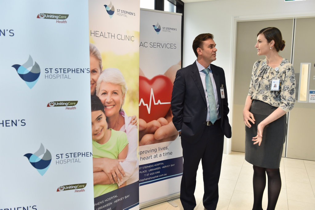 St. Stephens Hospital mental health program - Berquin Human (snr. psychologist & clinical lead at Cooinda Mental Health Service) with Amanda Cruwys (g/mgr. & dirctor of nursing at St. Stephens).