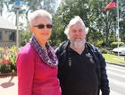 OPTIMISTIC: Steven Endres (right) and his sister from Sunshine Coast Julie McKenzie (left) hope the NBN towers will drastically improve the internet in Glenwood.