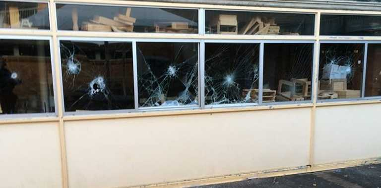 Some of the damage following last night's vandal attack on Ballina High School.