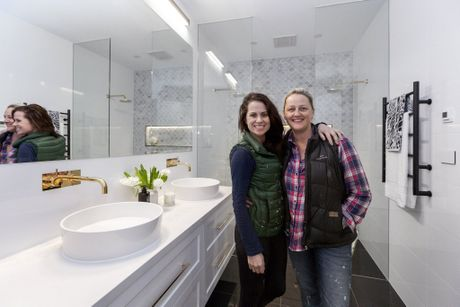 Julia and Sasha were pleased with their second-placed guest bathroom.