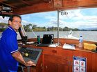 UP FRONT: Mt Warning Tours skipper Jack on the beautiful Tweed River.