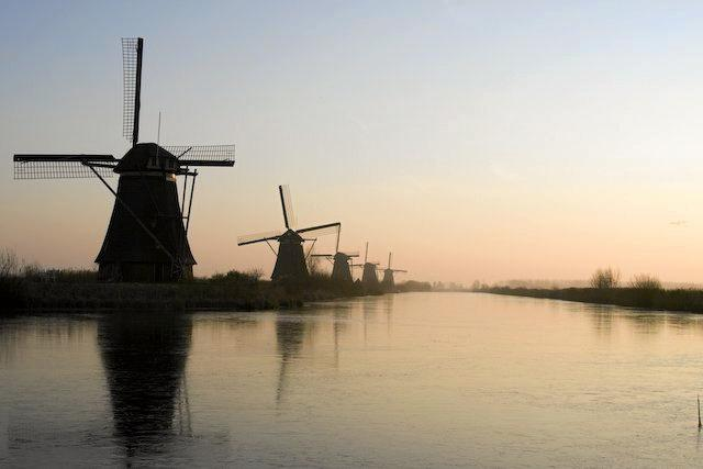 Windmills, an iconic emblem of the Netherlands.