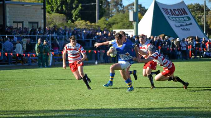 Dan Merker on the attack for Dalby against Toowoomba Rangers during their semi-final clash two weeks ago at John Ritter Oval.