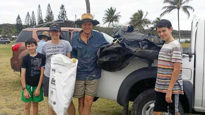 Cooper Sander, Sarah Lethbridge, John Cumming and Jai Sander took part in the Grasstree Beach Great Northern Clean Up event last weekend.