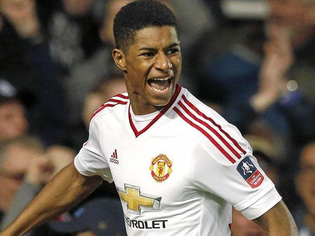 Manchester United's teenage striker Marcus Rashford.