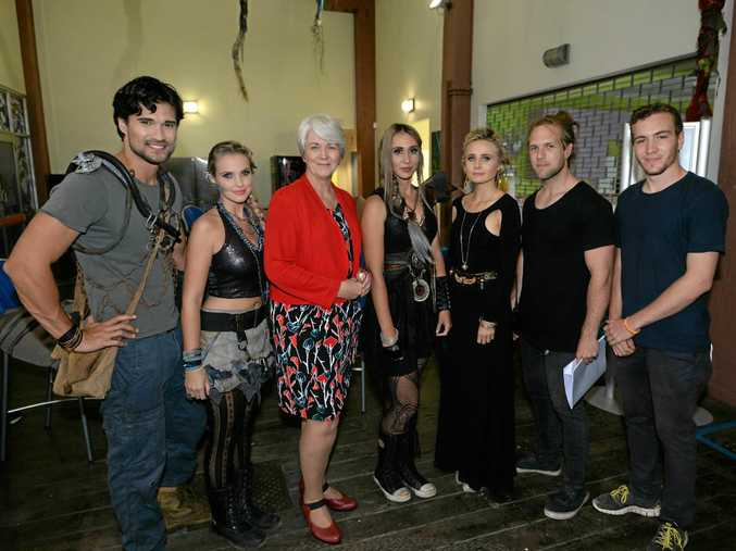 Rockhampton Mayor Margaret Strelow meets with cast and crew members of We Were Tomorrow which wrapped up filming in and around Rockhampton in recent weeks.