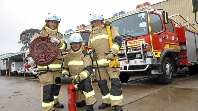 LEARNING THE ROPES: Stephen Coco (Stanthorpe), Jamie Duncan (Miles) and Richard Thorne (Killarney) join an eight-day training course with QFES.