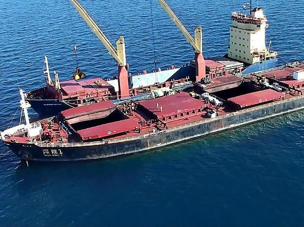 REEF DISASTER: The Shen Neng 1 ran aground the Douglas Shoal in 2010 damaging the reef and spilling oil and toxic paint into the water.