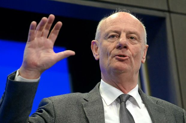 Reverend Tim Costello speaks on a charitable view of the Abbott government's first year in office at the National Press Club in Canberra, Monday, Sept. 8, 2014. (AAP Image/Alan Porritt) NO ARCHIVING