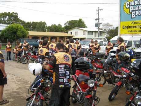 Postie Bike Safari riders preparing themselves for the road ahead.