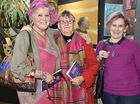 Dressed in their brightest are (from left) Nelia Duncan, Kaye Marsh and Pixie Roediger. Downlands Art Show. September 10, 2016