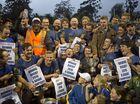 Dalby Wheatmen celebrate their win of the Risdon Cup.
