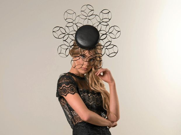 Mackay-based model Piper Neuendorf modelling the hat by Bel Cappello that is being exhibited at London Hat Week.Photographer: Leslie Dean McEwanMUA: Jenna Quast