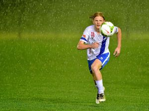 Rain crashes Coast soccer final with Woombye leading