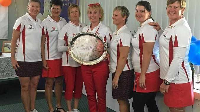 WINNERS: Sonia Bray, Trudy Morgan, Cheryl Fisher, Carmel O'Keefe, Toni Morgan, Casey Drochmann and Marti Kendall.