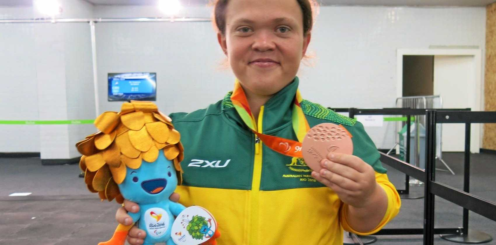 Ipswich and District Athletics Club thrower Claire Keefer won a bronze medal at the Paralympics in Rio.